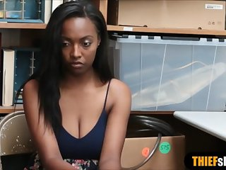 busty ebony teen thief punish fucked to avoid jail