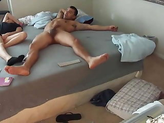 Teen gets fucked so hard she nearly falls out of the bed
