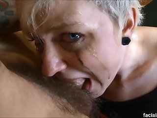 Krys foxy gets her 18 year old goth mouth & caboose fucked hard