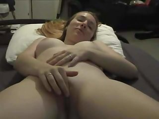 I film my young student who jerks her pussy