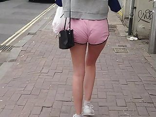 Candid Little Arse Teen - Tiny Cut-offs Smooth Gams - VPL