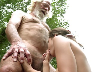 70 year old grandpa fucks Legal year old woman moans and aroused